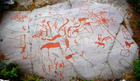 Norwegische Höhlenmalerei